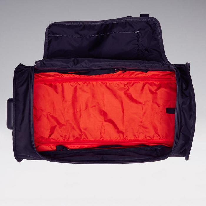 Sporttas op wieltjes Essentiel 70 liter grijs en rood
