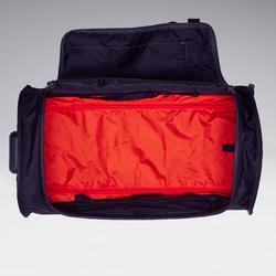 Valise Essentiel 70 litres gris et rouge