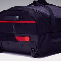 Bolsa de deporte con ruedas Classic 70 litros gris y rojo