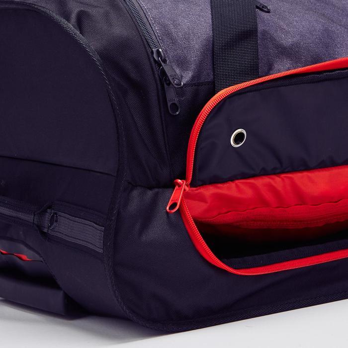 70L 滾輪式運動包 Classic - 灰色/紅色