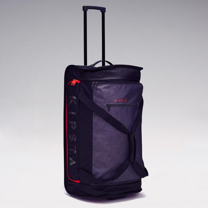 Trolley sporttas Classic 70 liter grijs/rood - 1299597