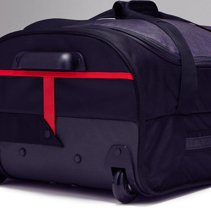 Sporttasche Trolley Essentiel 70 Liter grau/rot