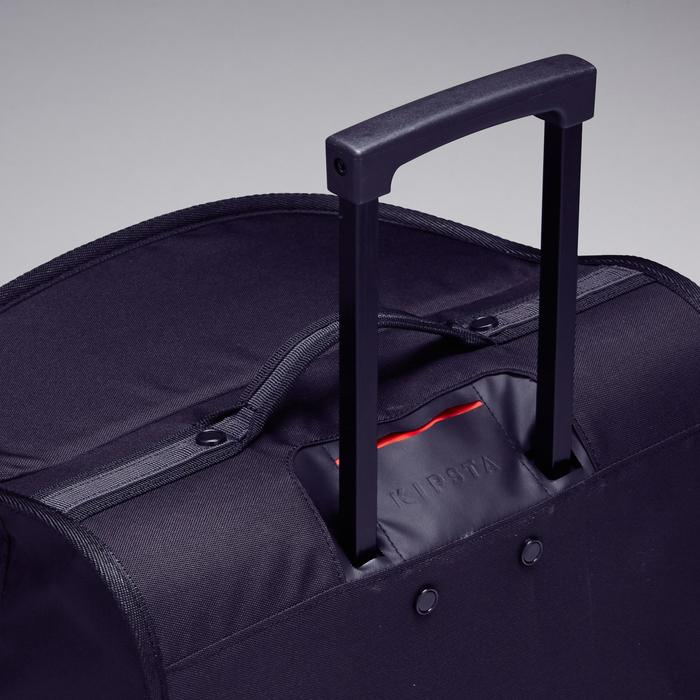 Trolley sporttas Classic 70 liter grijs/rood - 1299599
