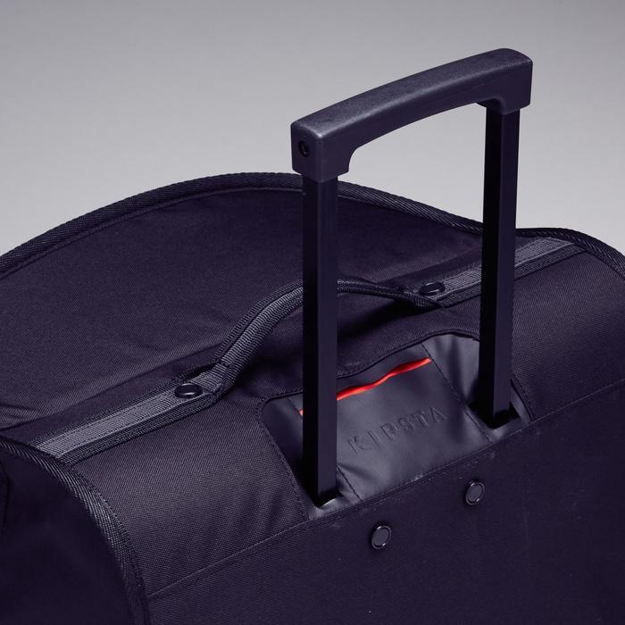 Trolley sporttas Essentiel 70 liter grijs/rood