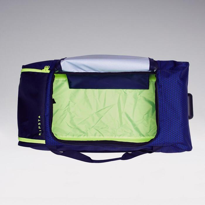 Trolley sporttas Classic 100 liter blauw/groen - 1299608
