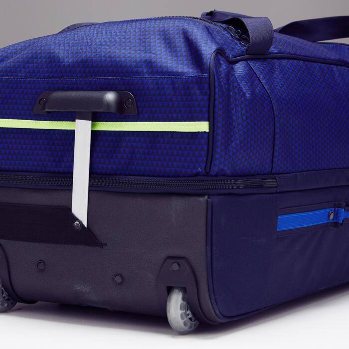 Trolley sporttas Classic 100 liter blauw/groen - 1299610