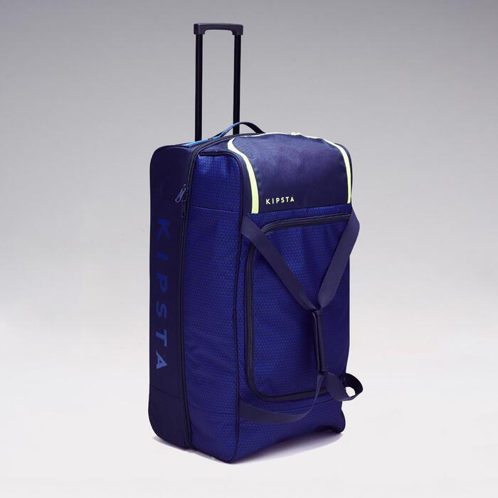 Trolley sporttas Classic 100 liter blauw/groen - 1299614