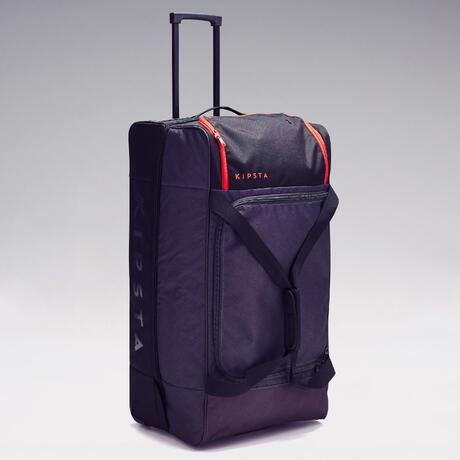 sac de sport roulettes classic 105 litres gris rouge kipsta by decathlon. Black Bedroom Furniture Sets. Home Design Ideas