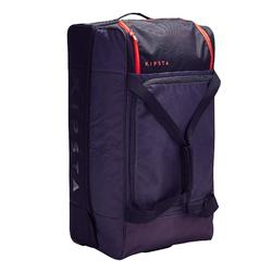 Classic 105L Rolling Sports Bag - Grey/Red