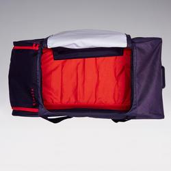 Sac à roulettes Classique 105 litres gris rouge