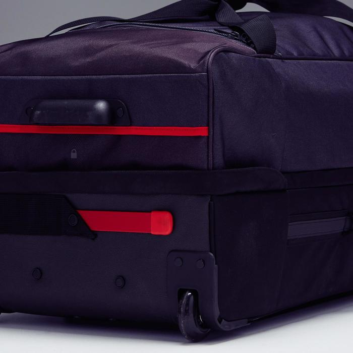 Trolley sporttas Classic 105 liter grijs/rood