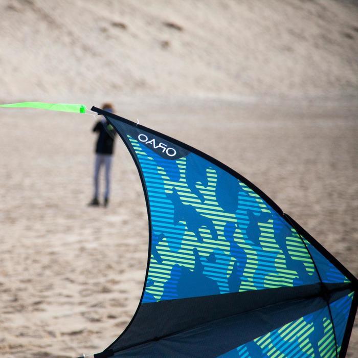 Cometas acrobáticas Playa Orao Para Niños IZYPILOT 160 Verde/Azul