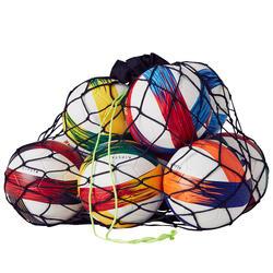 Ballnetz für 10 bis 14 Bälle schwarz/gelb