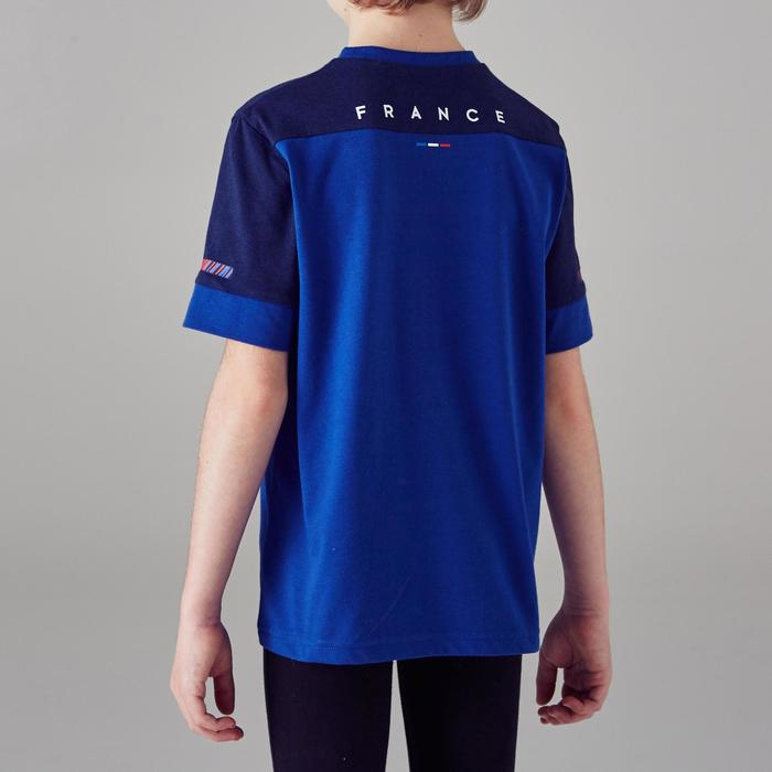 T-shirt de football enfant FF100 France bleu