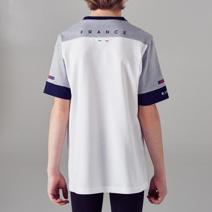 Fussballshirt FF100 Frankreich Kinder weiß/grau