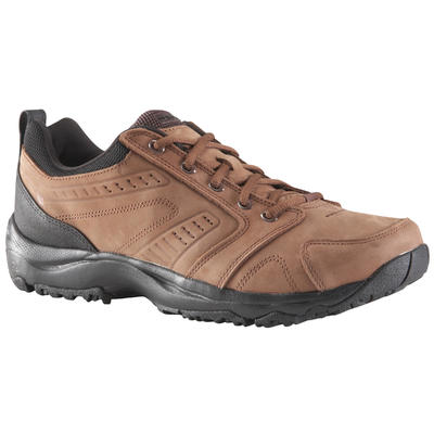 Men's Fitness Walking Shoes Nakuru Comfort Leather - Brown