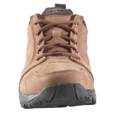 Nakuru Comfort Men's Fitness Walking Shoes - Brown Leather