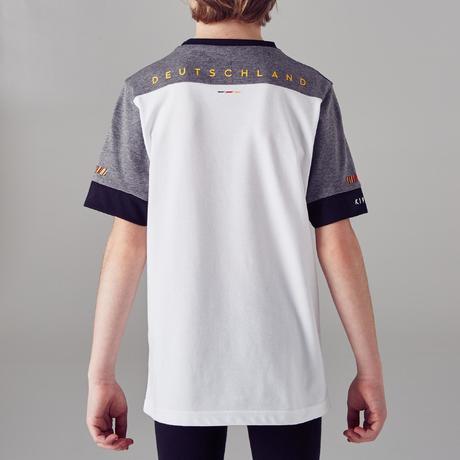 t shirt de football enfant ff100 allemagne blanc kipsta by decathlon. Black Bedroom Furniture Sets. Home Design Ideas
