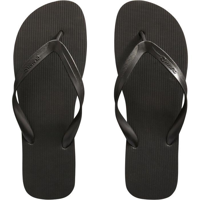 Slippers voor heren 100 zwart