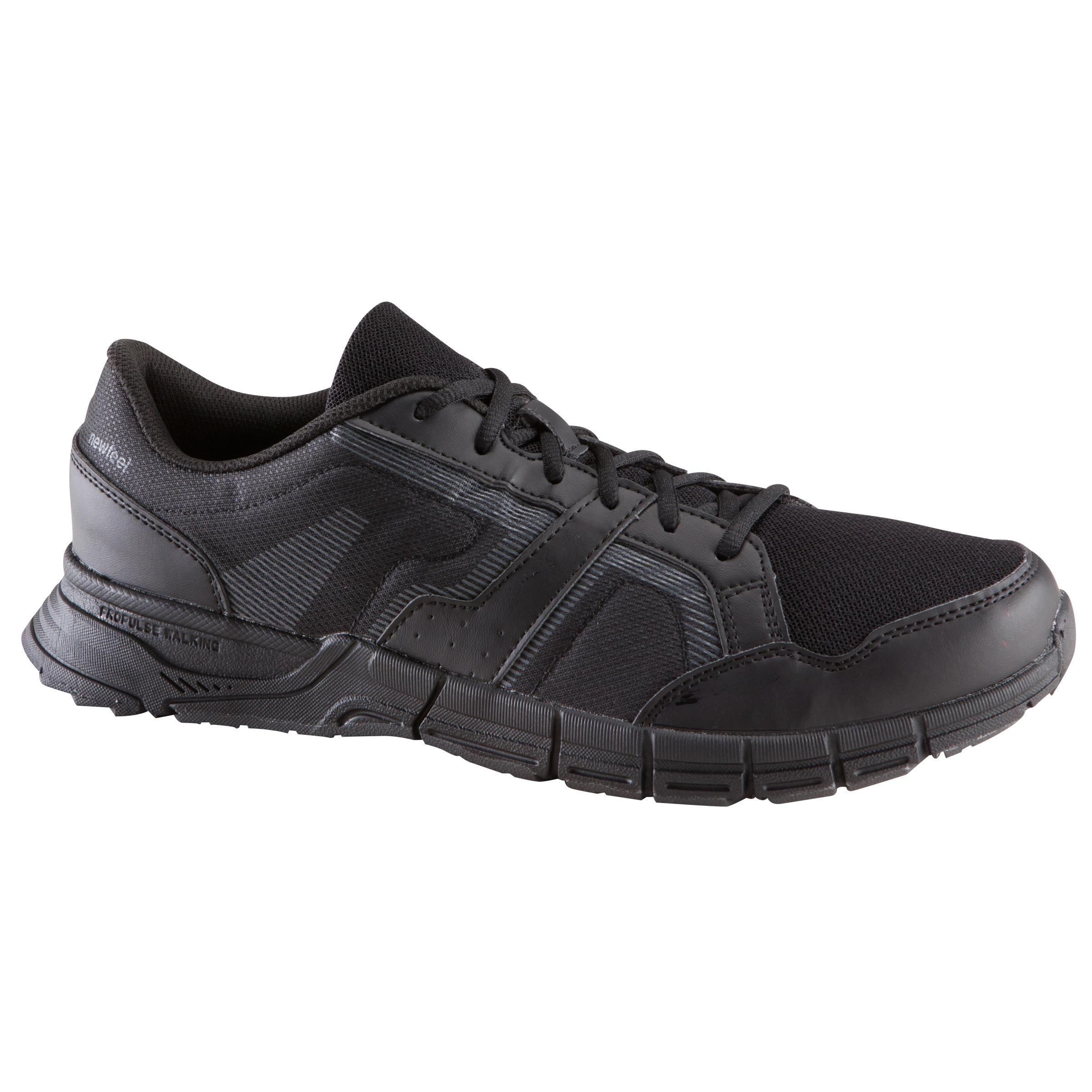 Tenis de caminata deportiva hombre Propulse Walk 100 negro