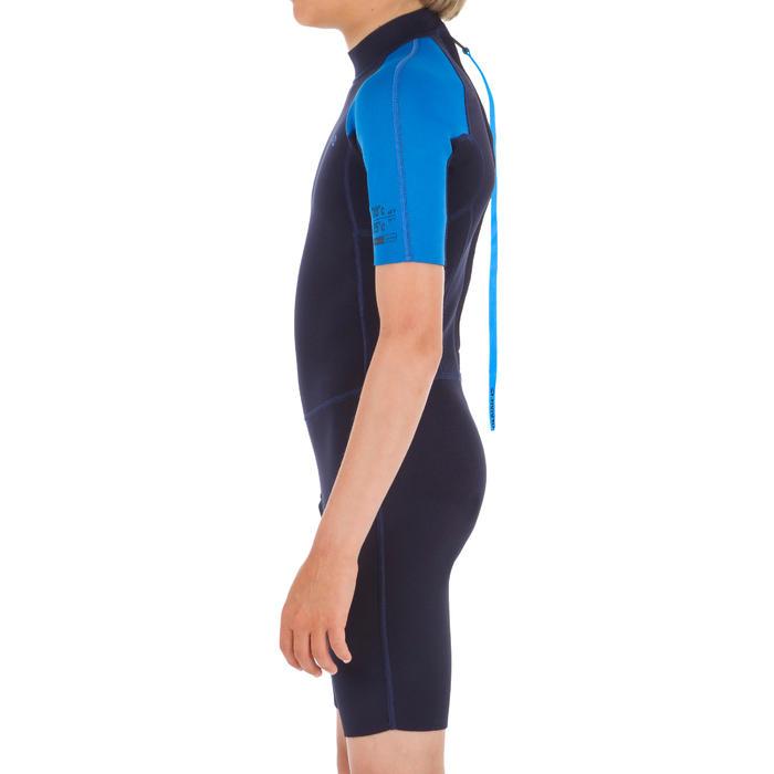 Kindershorty 100 voor surfen neopreen 1,5 mm blauw blauw