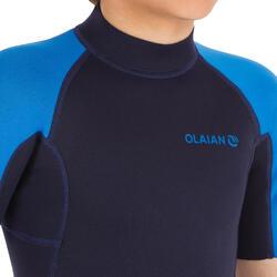 Combinaison Surf Shorty 100 Néoprène 1,5mm enfant Bleu bleu