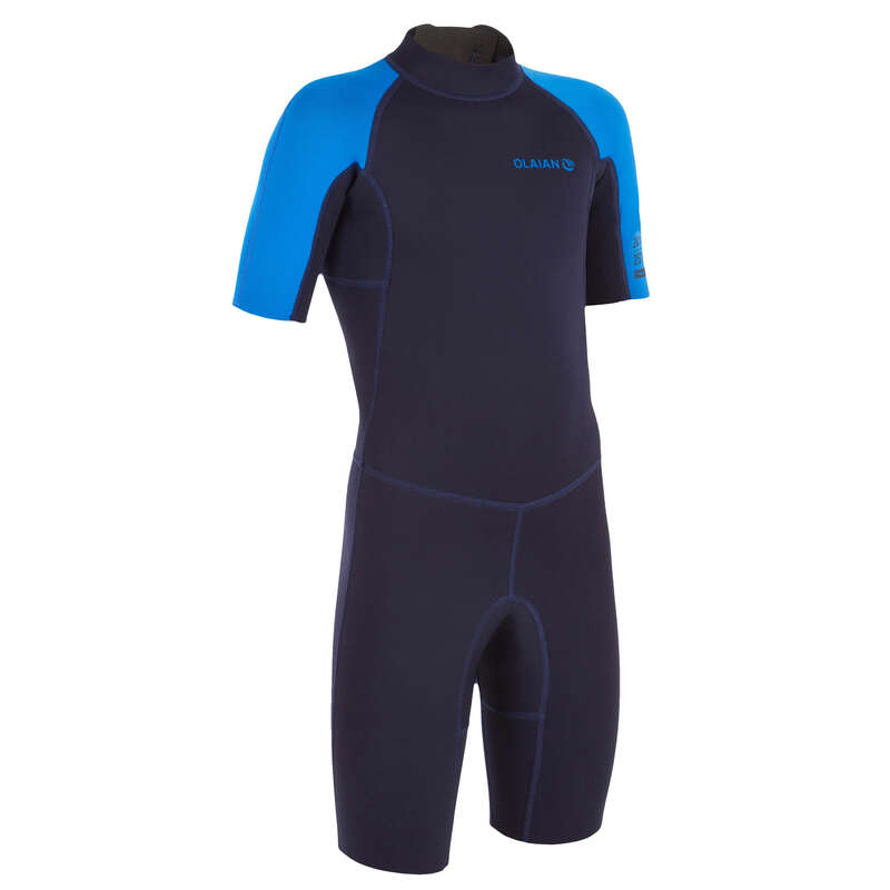 WARM WATER SPRINGSUIT Surf - SRTY100 JR navy blue shorty OLAIAN - Wetsuits