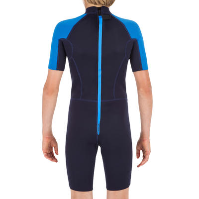 100 Child's 1.5mm neoprene blue Shorty Surfing wetsuit