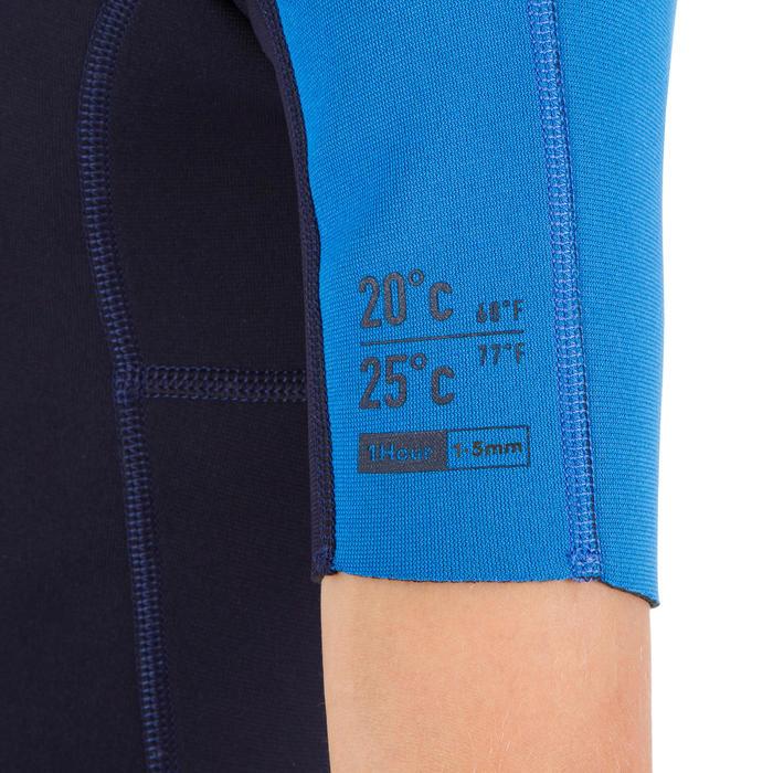 Kindershorty 100 voor surfen neopreen 1,5 mm blauw blauw - 1300046