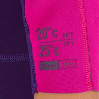 Combinaison isotherme courte 100 néoprène 1,5mm violet rose enfants