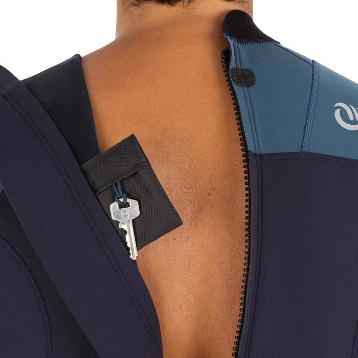 Heren shorty 500 voor surfen stretch neopreen 2 mm blauw grijs - 1300079