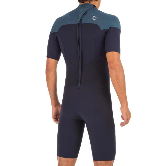 Neoprenanzug Surfen Shorty 500 Stretchneopren 2 mm Herren blaugrau