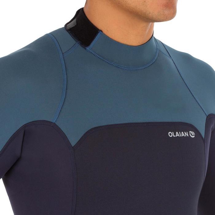 Heren shorty 500 voor surfen stretch neopreen 2 mm blauw grijs - 1300086