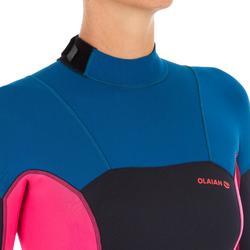 Neopren-Shorty 500 Damen Stretchneopren 2mm blau/rosa