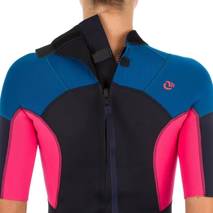 Dames shorty 500 stretch neopreen 2 mm blauw roze - 1300124