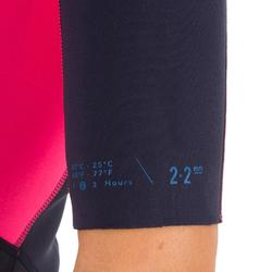 Neopren-Shorty 500 Damen Stretchneopren 2 mm blau/rosa