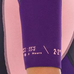 Neoprenanzug Shorty Surfen 500 mm Stretch 2 mm Kinder blau/violett/rosa