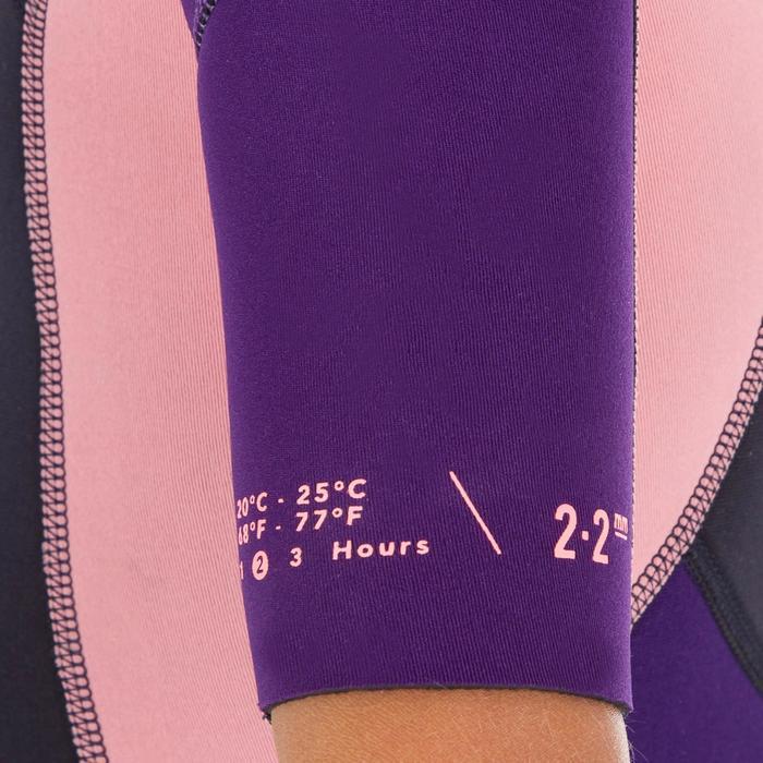 Neoprenanzug Shorty Surfen 500mm Stretch 2mm Kinder blau/violett/rosa