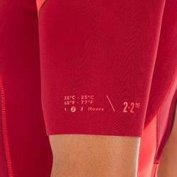 Neoprenanzug Surfen Shorty 500 Stretch 2mm Herren bordeaux