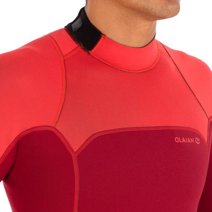 Traje Surf Shorty 500 stretch Neopreno 2 mm hombre burdeos rojo coral