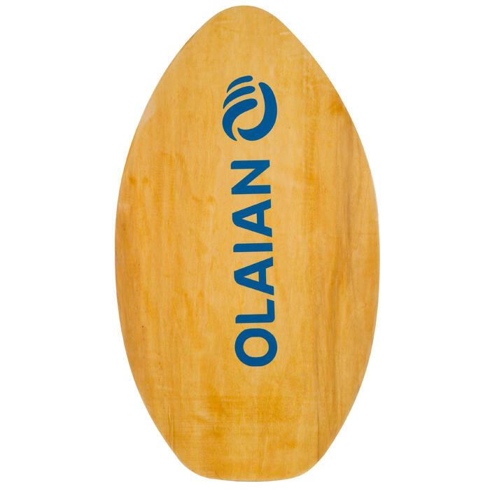 Skimboard en bois 500 pour enfant avec pad antidérapant bleu. - 1300226