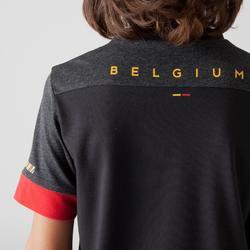 Fußballshirt FF100 Belgien Kinder schwarz