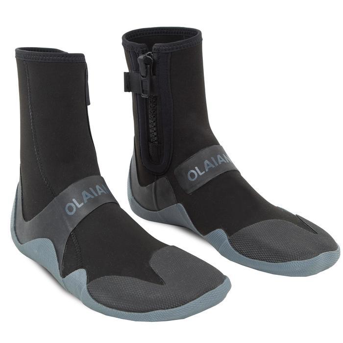 Chaussons surf Bottillons 500 Néoprène Zip 3 mm noir gris