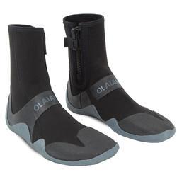 Surflaarsjes 500 neopreen rits 3 mm zwart/grijs