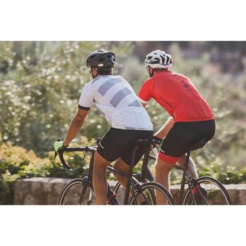 MAILLOT MANGA CORTA CICLISMO CARRETERA HOMBRE ROADCYCLING 500 ROJO