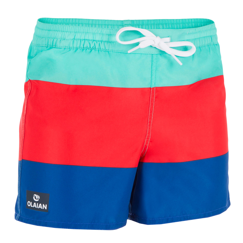 Short de surf Boardshort corto 100 Kid Block azul