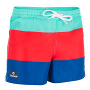 Short de surf Boardshort corto 100 Kid Block azul