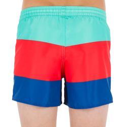 Surf Boardshort corto 100 Kid Block azul