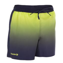 Surf zwemshort kort model 500 Kid Sunset Yellow