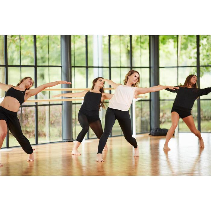 Naadloze dameslegging voor moderne dans zwart